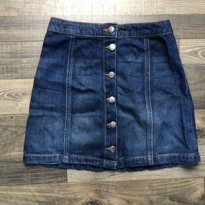 H&M, size 4, jean mini skirt.